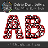 Bulletin Board Letters: Red, Black, and White Dots (Classroom Decor)