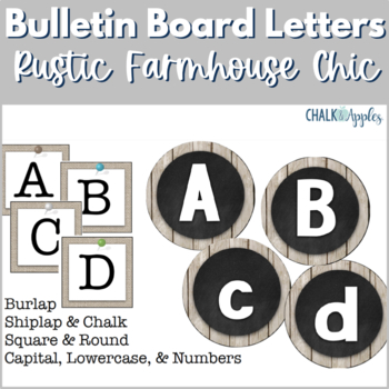Bulletin Board Letters - Rustic Farmhouse Chic