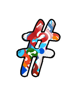 Clipart Letters Social Media Themed for High School and Middle School