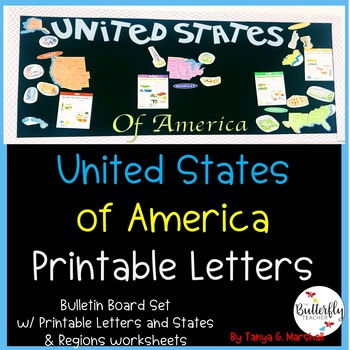 Bulletin Board Ideas | States & Capitals: Social Studies | States and Regions