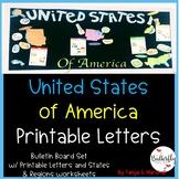 Bulletin Board Letters: Social Studies
