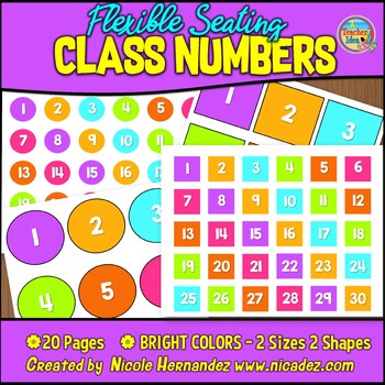 Class Number Circles and Squares 1-30