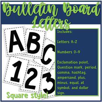 Bulletin Board Letters - Square