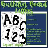 Bulletin Board Letters - Square
