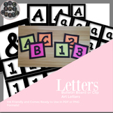 Bulletin Board Letters: Square