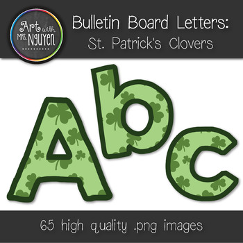 Bulletin Board Letters: St. Patrick's Day Clovers (Classroom Decor)