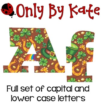 Bulletin Board Letters, St. Patrick's Day, Print Your Own