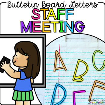 Bulletin Board Letters - Staff Meeting