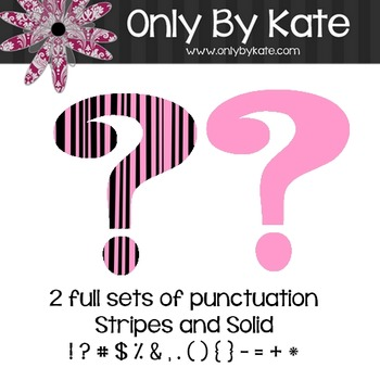 Bulletin Board Letters, Stripey Pink, Print Your Own
