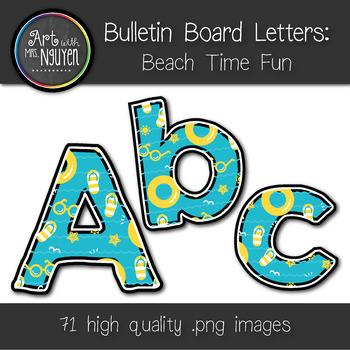 Bulletin Board Letters: Summer Beach Time (Classroom Decor)