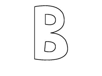 Bulletin Board Letters Template