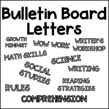 Bulletin board letter template teaching resources teachers pay bulletin board letters template for colored paper spiritdancerdesigns Image collections