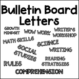 Bulletin Board Letters - Template for colored paper