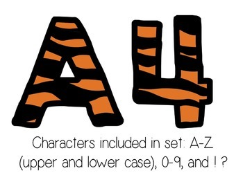 Bulletin Board Letters: Tiger Print (Classroom Decor)