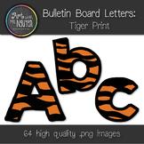 Bulletin Board Letters: Tiger Print (Classroom Decor)