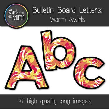 Bulletin Board Letters: Warm Swirls (Classroom Decor)