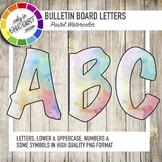 Bulletin Board Letters Watercolor