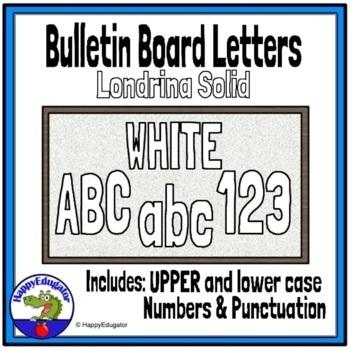 Bulletin Board Letters White