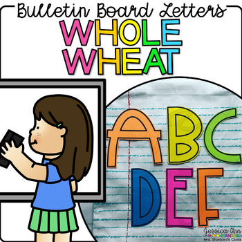 Bulletin Board Letters - Whole Wheat
