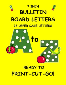 Bulletin board letters word wall letters green polka for Bulletin board template word