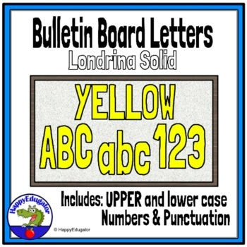 Bulletin Board Letters Printable Yellow
