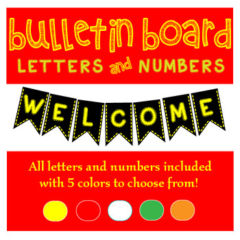 Bulletin Board Letters and Numbers Bundle!