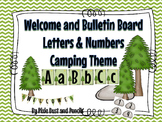 Bulletin Board Letters and Numbers Camp Theme