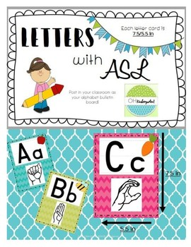 Bulletin Board Letters with ASL