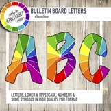 Bulletin Board Letters with Rainbow Patterns