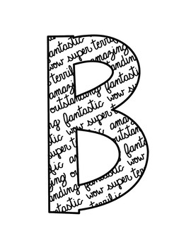 Bulletin Board Letters Alphabet with Cursive Handwriting