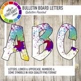 Bulletin Board Letters with Splatter Paint