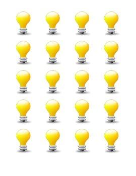 Bulletin Board Light Bulbs Ideas or Hollywood Theme