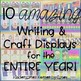 Bulletin Board MEGA Bundle II - 10 writing and craft display sets Kindergarten