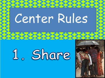 Bulletin Board Materials for Managing Centers, Labels, Rules