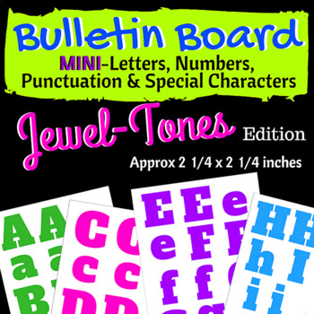 Bulletin Board Mini Letters, Numbers & Special Characters (Jewel Tones)
