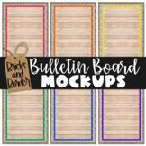 Bulletin Board Mockup Pins Primary Polkadot