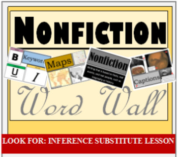 Word Wall, Nonfiction, Mix & Match, PDF, Printable, Decorations, Secondary
