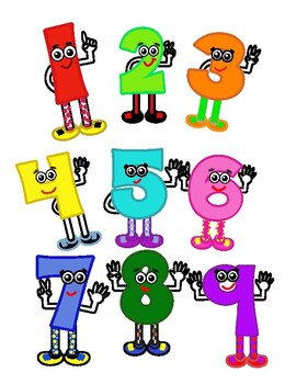Bulletin Board Number Friends-Original clip art by the seller