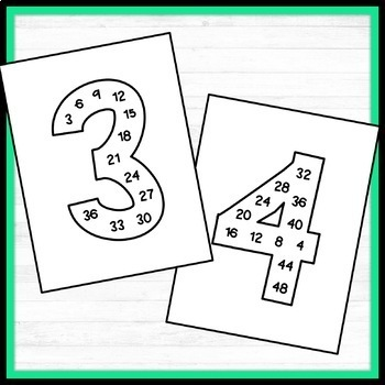 Bulletin Board Numbers (with multiples in them)