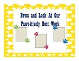 Bulletin Board- Paws theme
