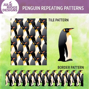 Penguin Repeat Patterns for Bulletin Boards or Clip Art