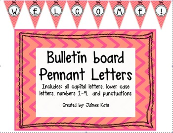 Bulletin Board Pennant Letters