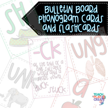 Bulletin Board Phonics Cards and Flashcards