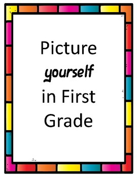 Printable Words.. Picture Yourself in First Grade