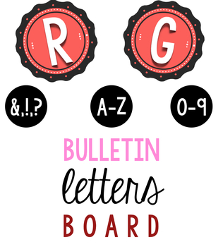 Bulletin Board Pink Scallop Letters & Numbers