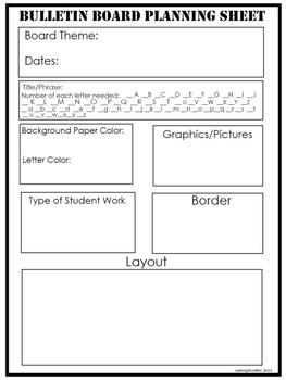Bulletin Board Planning Sheet