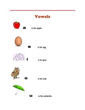 Posters: Numbers, Shapes, Vowels -  Head Start,  Kindergarten Readiness Skills