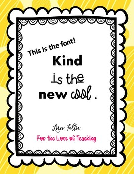 Bulletin Board Printable Words....Kind is the new cool.