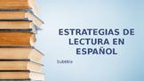Bulletin Board: Reading Strategies in Spanish - Estrategias de lectura