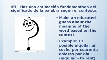 Bulletin Board: Reading Strategies in Spanish - Estrategias de lectura